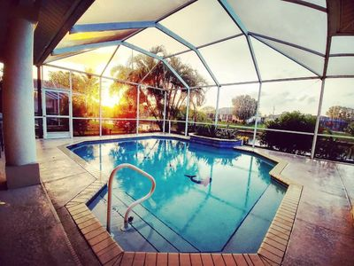 Photo for Centrally Located Gulf Access Heated Pool Home with Boat Lift, Kayaks & Bikes