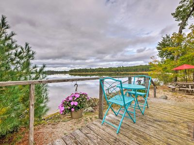 Photo for NEW-Cozy Home w/Loft & Furnished Deck on Webb Pond