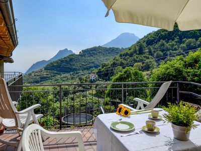 Photo for In the mountains with view of Lake Garda - Rustico Pietre Antiche, Apartment 3