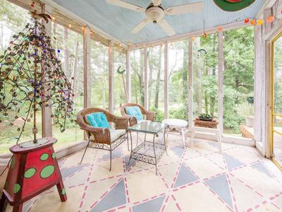 Photo for Colorful Artistic Lakefront Home Canoe Opt - Central to Stone Mt + everything!