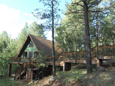 Photo for Peaceful Cabin Tucked into Munds Canyon; Enjoy the Open Forest from the Decks