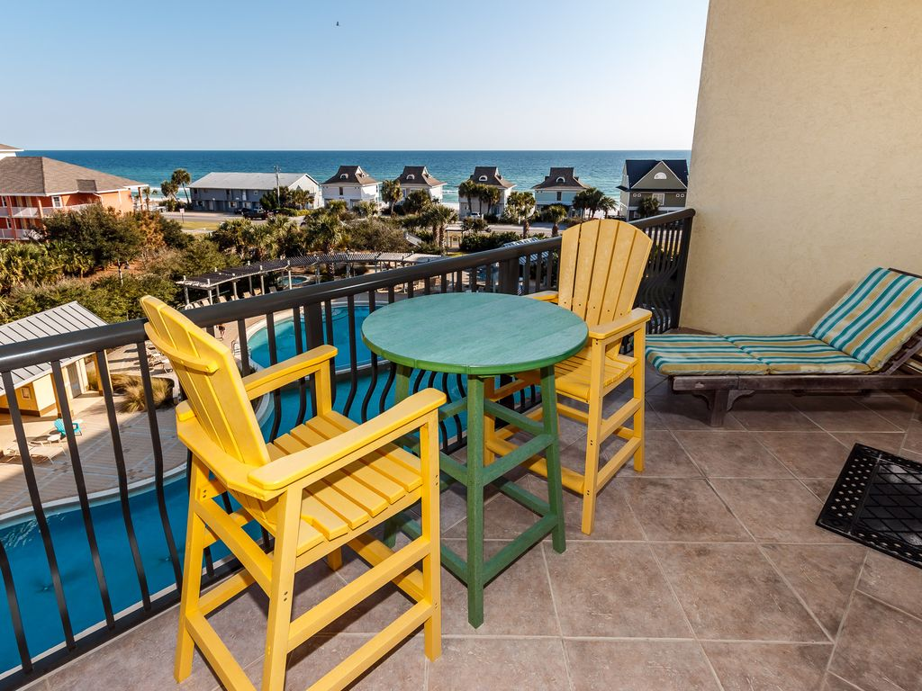 Beach resort unit 506 covered parking top floor zero - Florida condo swimming pool rules ...