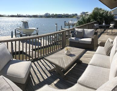 Photo for Waterfront house w/boat dock, kayaks, short walk to Beach