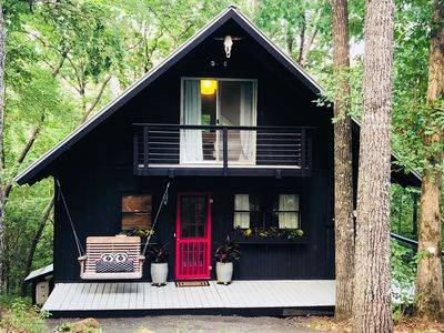 Photo for Bohemian Bungalow In The Woods