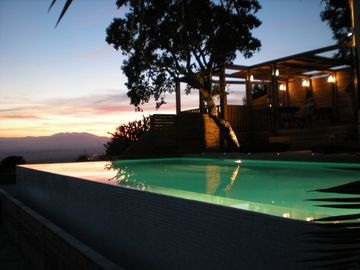 Spectacular sea &mountain views-private location, infinity pool