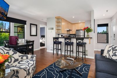 The open-concept living area provides plenty of space for relaxing and socializing.