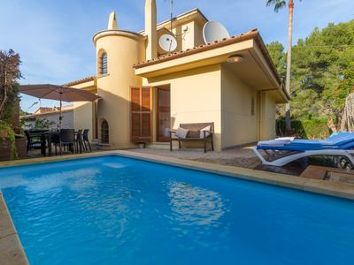 Photo for House with pool and table tennis 700m to the beach, Bonaire, Alcudia, Mallorca