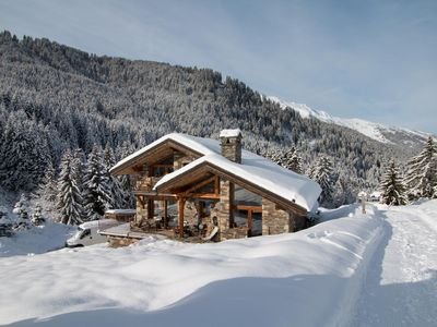 Photo for Unique and Magnificient Ski in, ski out Chalet !!