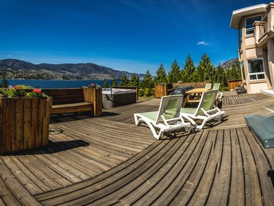 Photo for Huge Family Home Across From Skaha Lake With Views, Hot Tub And On Wine Routes!