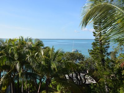 Photo for Green Turtle Cay Home, sleeps 7, with dock slip and amazing sunset views