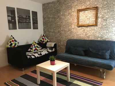 Photo for Cozy modern apartment in the historic Bergmannshaus