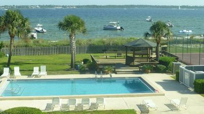 Photo for Beach and Bay Views All Around! 2/2.5 Townhouse, Pool, Tennis, and More!