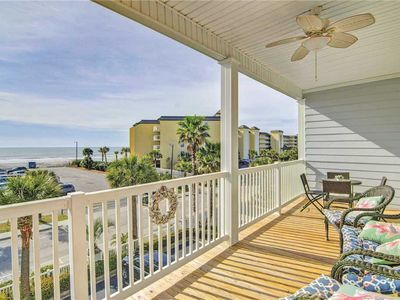 Photo for Folly Beach Condo with Ocean Views, steps from beach, shops, & dining. Pool Access.