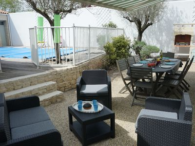 Photo for Beautiful VILLA with heated pool .Access shops and beaches on foot (15 minutes)
