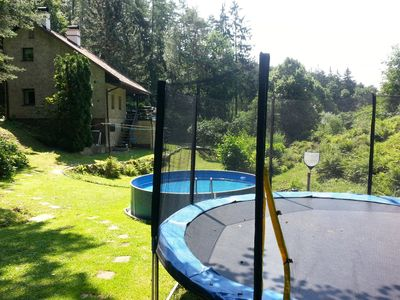 Photo for Holiday house with outdoor pool and trampoline
