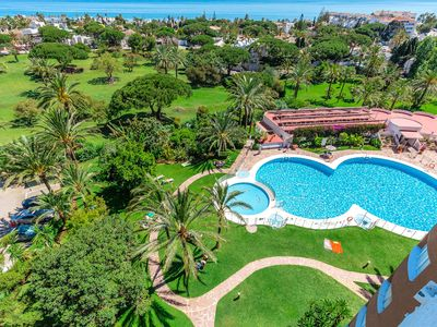 Photo for Beautiful studio with panoramic sea views, Coronado Building, Marbella