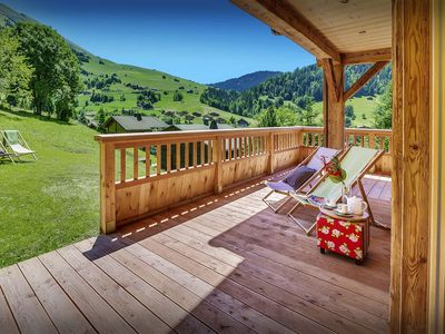 Photo for Ski or watch from the balcony of this 4 star Alpine home - SnowLodge