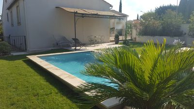 Photo for Villa with pool near UZES, 6 people, 3 bedrooms, 1 bath, 1Bathroom,