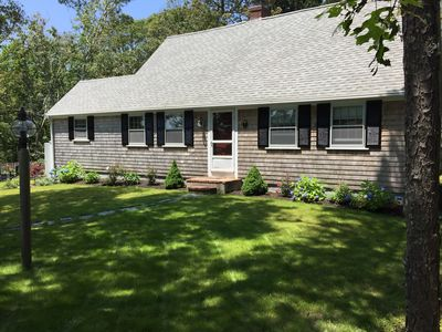 Skinnequit Pond view & access, short walk to Red River Beach on Nantucket Sound