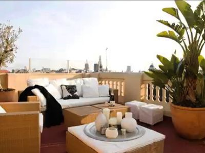 Photo for Sunny Penthouse with Sea View and 2 x 50 m2 terraces