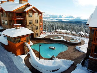 Photo for Condo with a Fireplace Near the Lifts   2 Hot Tubs, Pool, Gym + More!