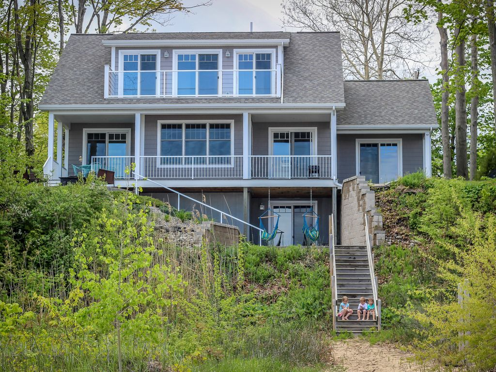 Lakefront Home on Lake Huron, Private Beach - VRBO
