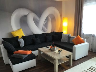 """Photo for Apartment 2 with 30 m² terrace - Holiday House """"Am Geiersberg"""""""