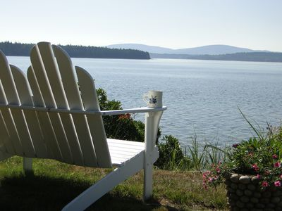 Photo for Stunning Oceanfront Cottage in Private Setting with views of Acadia Natl' Park