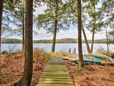 Photo for Lakeside Francestown Home w/Dock, Kayak, & Canoe!