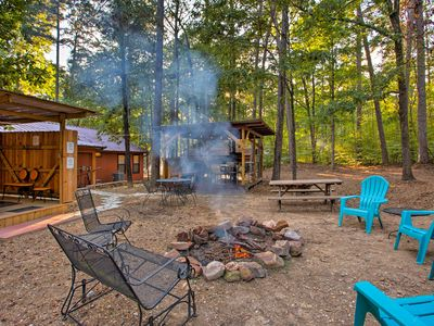 Photo for NEW! 'Stormy Ridge' Cabin w/Hot Tub in Broken Bow!