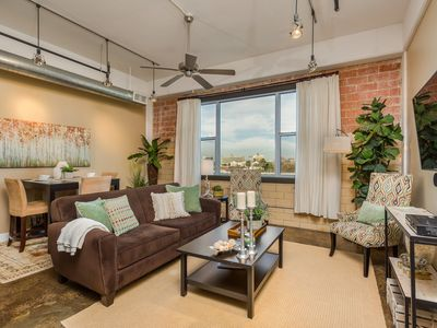 Photo for Sleek Loft Overlooking Pool & Downtown Skyline 2 Blocks To Riverwalk