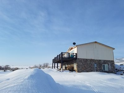Photo for Spacious rental w/ furnished deck & great views of the lake & surrounding area