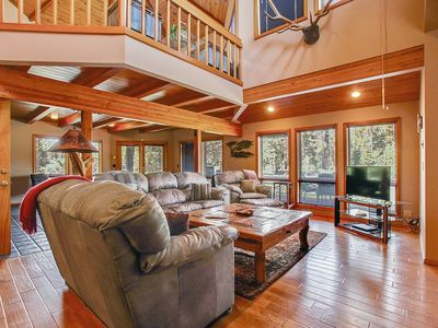 Photo for Big River Hide Away - Beautiful 3 Bedroom Home On The Deschutes River! Just minutes from Sunriver, Indoor Hot Tub w/ Lots of Windows Large Deck, Private River Access