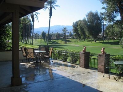 Large West Facing Patio on Golf Course with beautiful Mtn Views