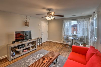 Your Queen City retreat awaits at this 2-bedroom, 1-bath vacation rental.