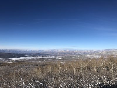 Photo for Staggering view from cozy cabin near Powderhorn Ski resort and the Grand Mesa!