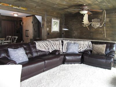 Large reclining sectional sofa - big enough for all your guests!
