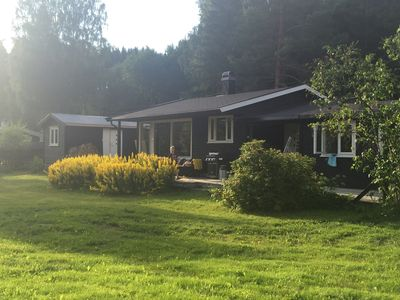 Photo for Modern and spacious lake cabin - golf, fishing, swimming, hiking, skiing