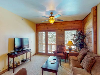 Photo for NEW LISTING! Dog-friendly condo w/shared hot tub & balcony - near ntl forests