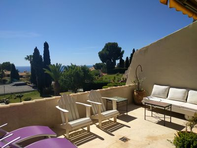 Photo for Quiet apartment, 5 minutes from the beach, panoramic sea views