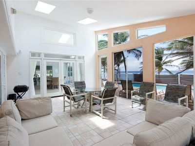 Photo for Sea Grape: Oceanfront Villa in Rum Point with Pristine Pool & Serene Snorkeling