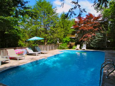 OPEN FOR 2018! Beautiful salt water pool. Secluded. Landscaped garden.