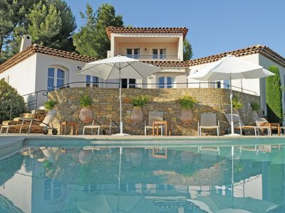 Photo for Luxury villa with private pool, pool house and beautiful garden with panoramic views of the Sea
