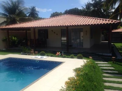 Photo for New large comfortable pool, barbecue, games room, WIFI, at 30m from the sea