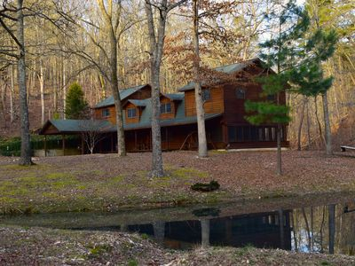 Photo for Secluded Rustic Cabin w/Wifi on 160 Acres near Illinois River & Lake Tenkiller