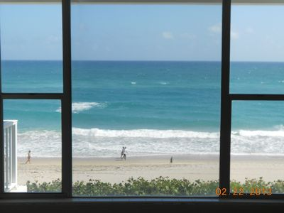 View of ocean through living room window(3rd floor).