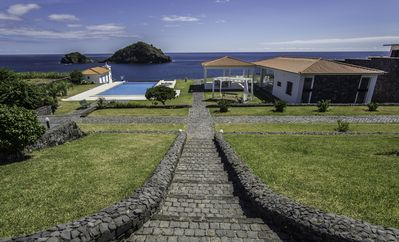 Photo for Luxurious seaside guest house with a shared pool and a breathtaking view