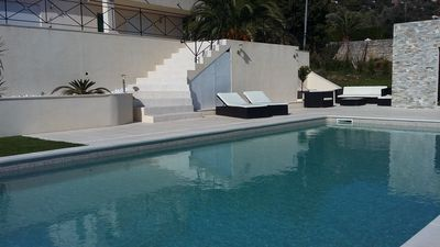 Photo for CHARMING VILLA IN QUIET WITH GREAT SWIMMING POOL AND PANORAMIC SEA VIEW