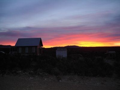 Sunrise at Tombstone Silver Nickel Cabin