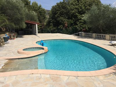 Photo for Villa swimming pool - garden - countryside between Nice and Monaco